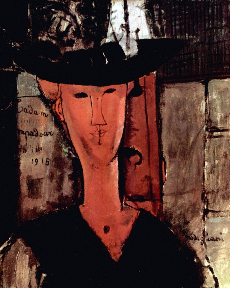 100 Hand Painted Oil On Canvas Modigliani Lady With