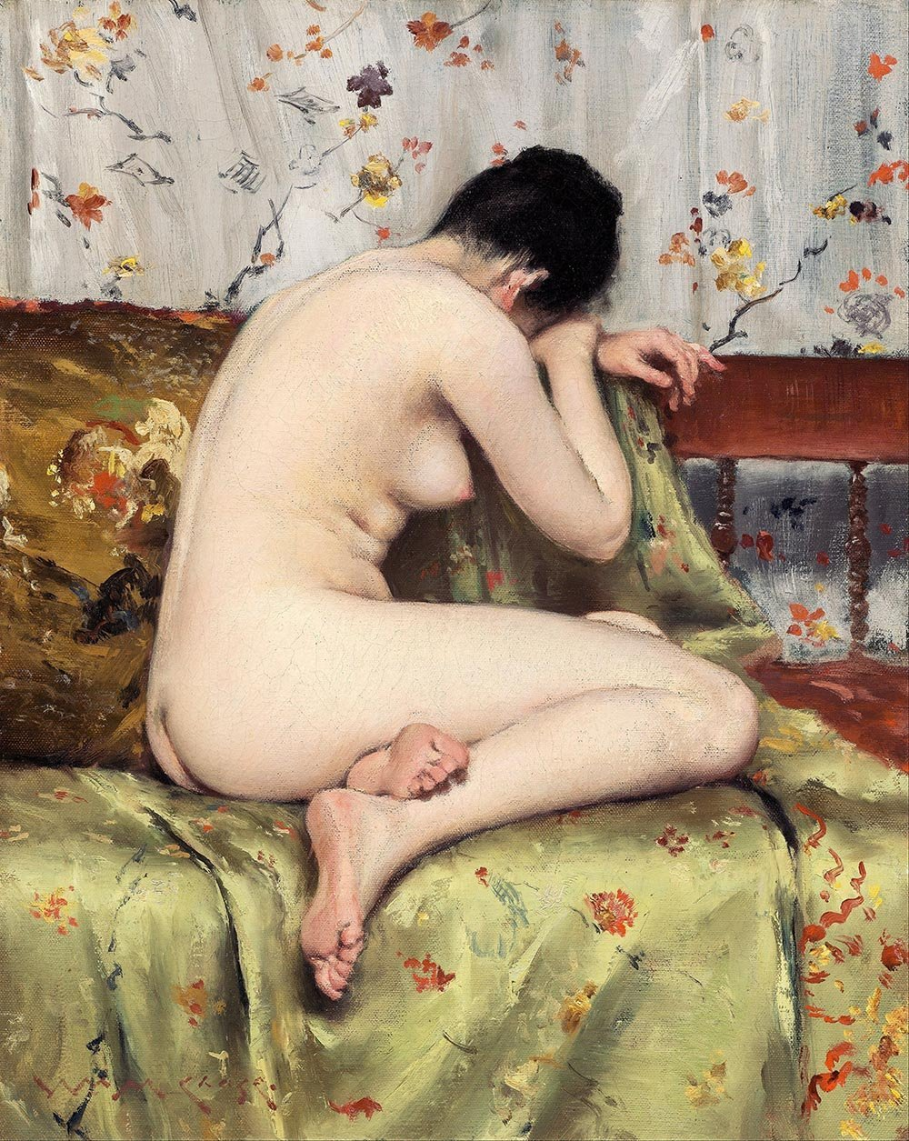 100% Hand Painted Oil on Canvas - William Merritt Chase - A Modern Mary Magda...
