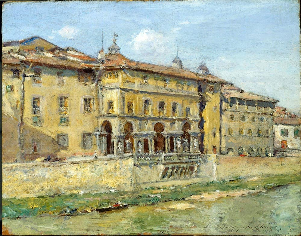 100% Hand Painted Oil on Canvas - William Merritt Chase - Florence - 30x40 Inch