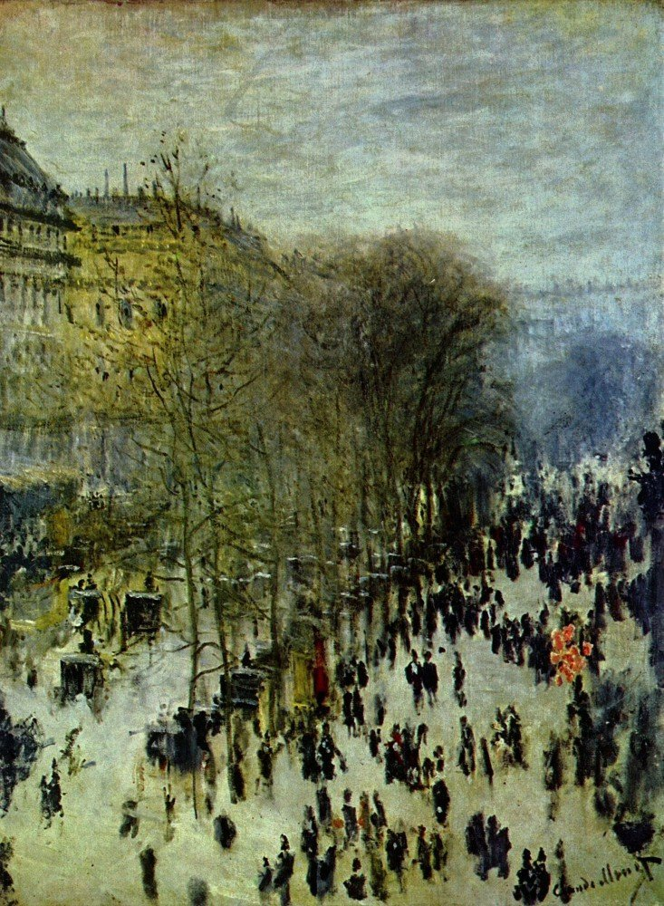 100% Hand Painted Oil on Canvas - Boulevard of Capucines by Monet - 24x36 Inch