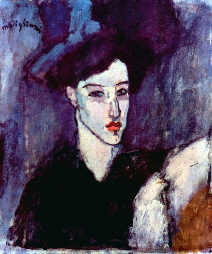 100% Hand Painted Oil on Canvas - Modigliani - The Jewess - 30x40 Inch