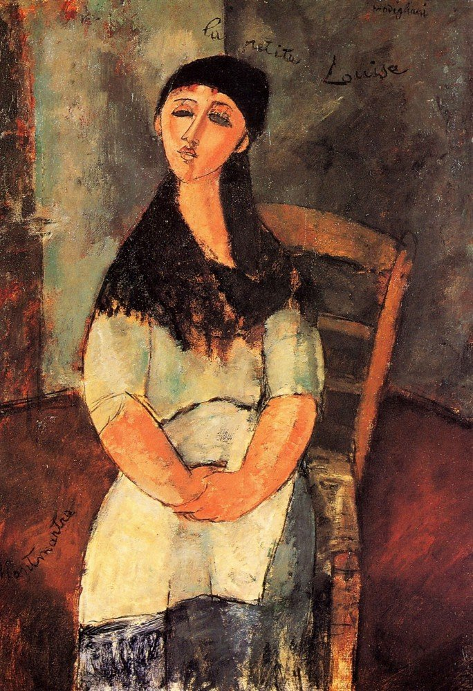100% Hand Painted Oil on Canvas - Modigliani - The little Louise - 30x40 Inch