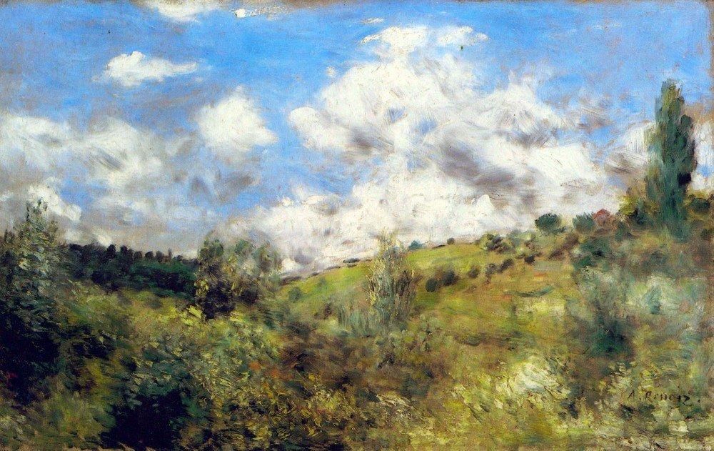 100% Hand Painted Oil on Canvas - Landscape by Renoir - 30x40 Inch