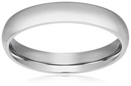 4MM Titanium Ring Classic Wedding Band with Polished Finish - $23.95