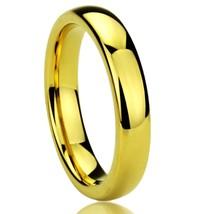 4MM Titanium Comfort Fit Wedding Band Ring Yellow Tone High Polished Cla... - $22.95