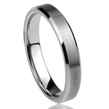 4MM Titanium Comfort Fit Wedding Band Ring Brushed Band Sizes 5-15 & Half - $24.95