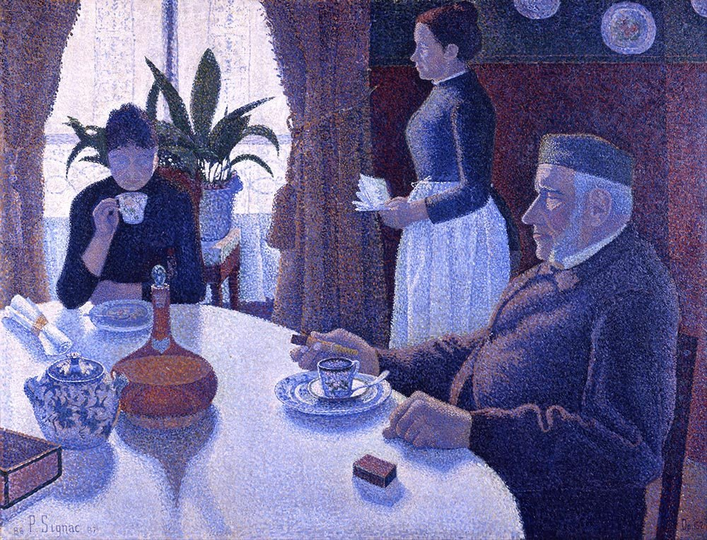 100% Hand Painted Oil on Canvas - Signac - Breakfast - 20x24 Inch