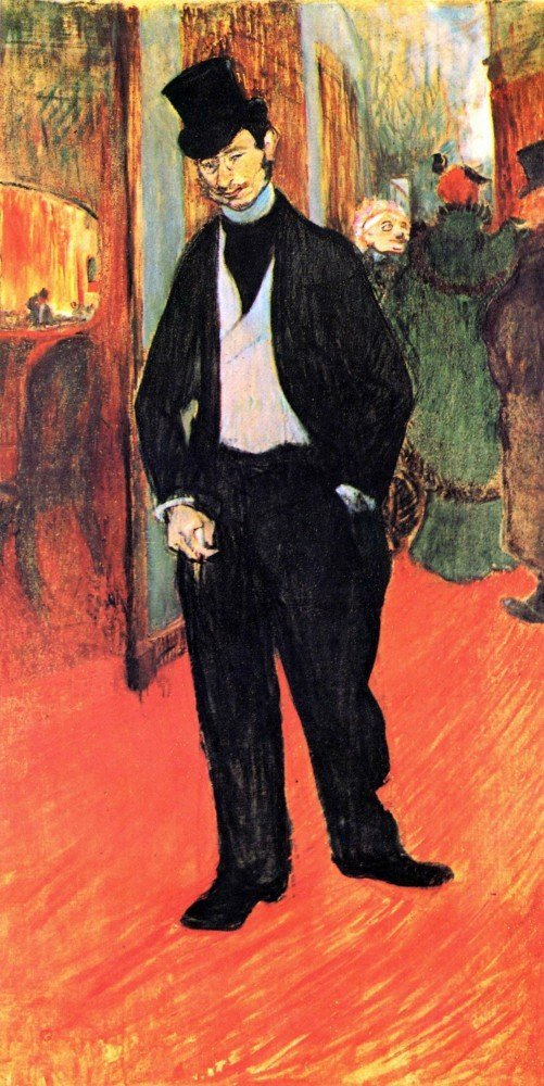 100% Hand Painted Oil on Canvas - Dr. Tapia de Celeyran by Toulouse-Lautrec -...