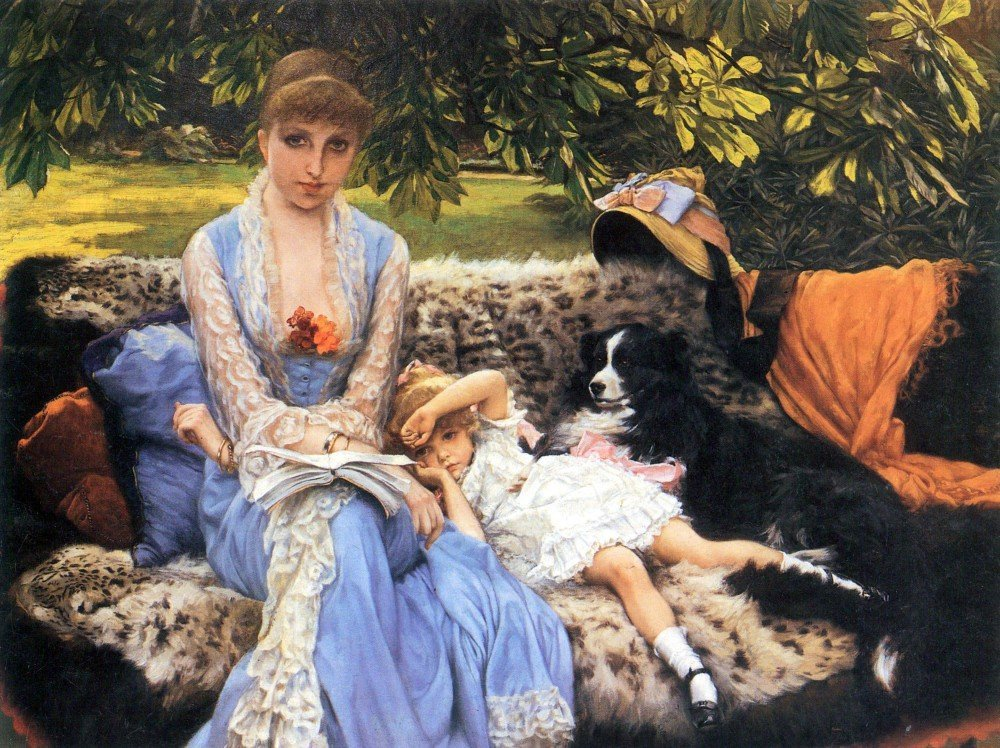 100% Hand Painted Oil on Canvas - Silence by Tissot - 20x24 Inch