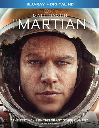 The Martian (Blu-ray Disc, 2016, Includes Digital Copy) Matt Damon Sci-Fi Movie