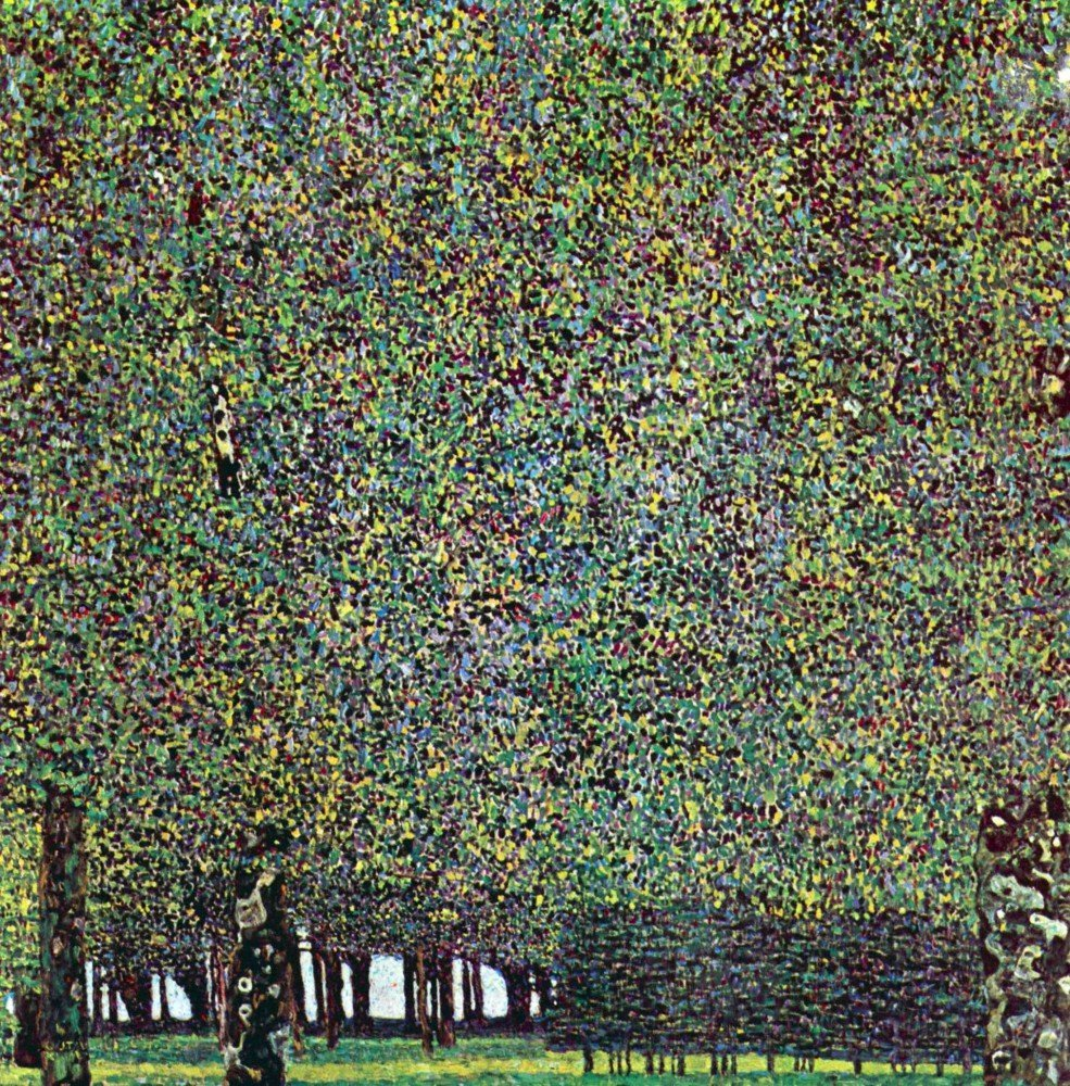 100% Hand Painted Oil on Canvas - The Park by Klimt - 24x36 Inch