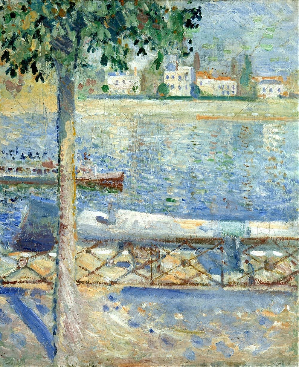 100% Hand Painted Oil on Canvas - Munch - The Seine at St Cloud - 20x24 Inch