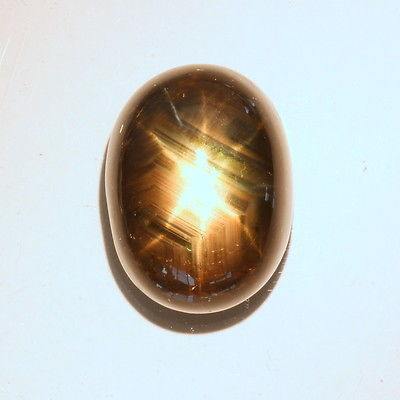 Black Double Star Sapphire Oval Cabochon Natural Thailand Gemstone 38.90 carat