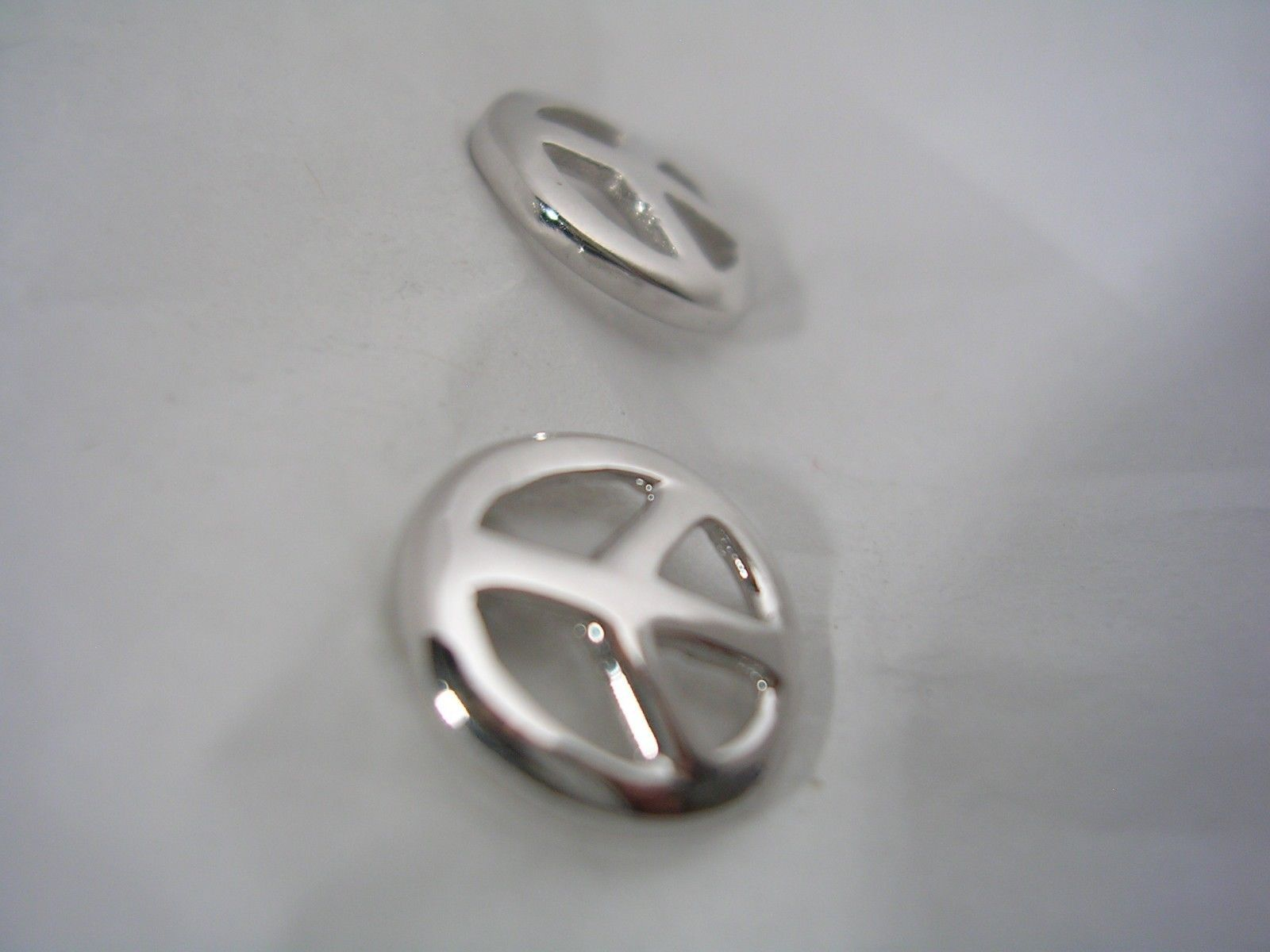 PEACE SIGN POST EARRINGS ALL HIGH POLISHED IN STERLING SILVER