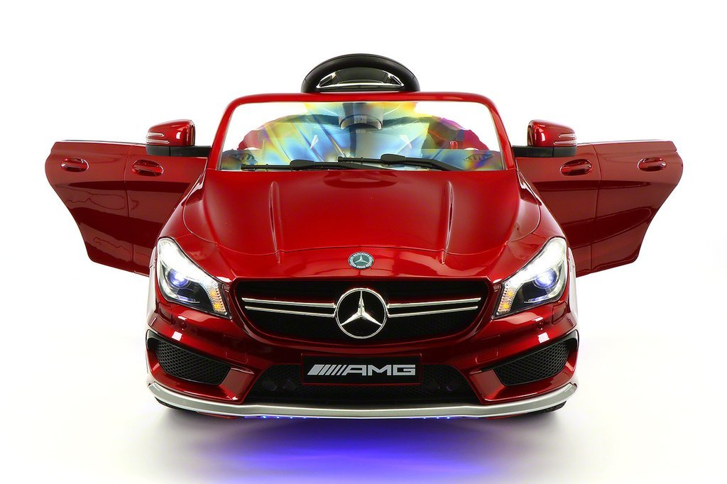 2018 Mercedes CLA45 Kids Electric Ride-On Toy Car Remote R/C Cherry Red Metallic