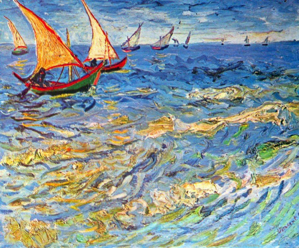 Roshni Arts - Famous Masterpieces 100% Hand Painted Oil on Canvas - The sea ...