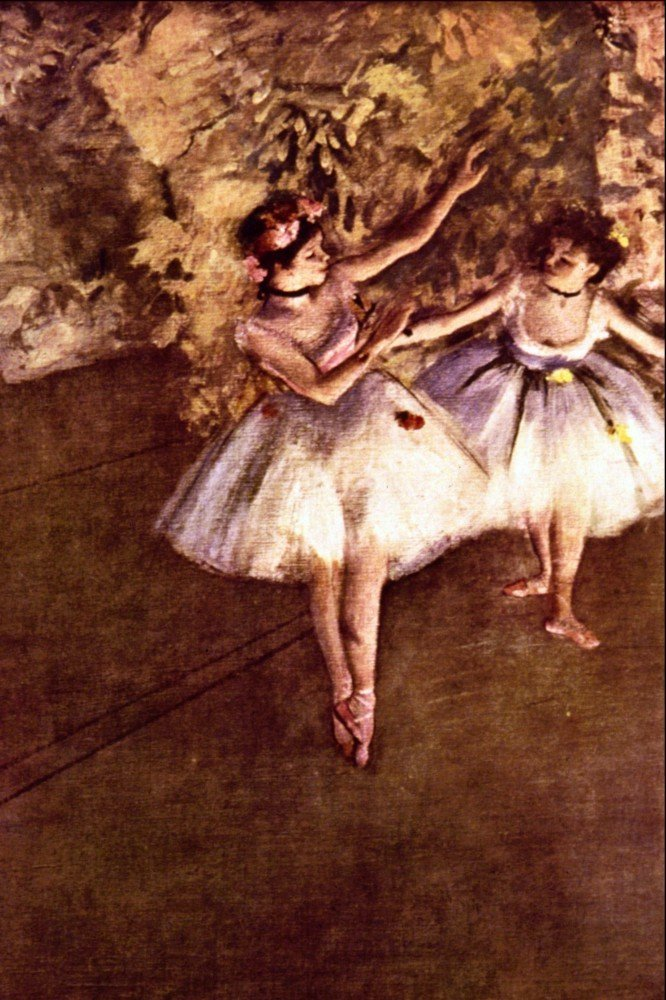 100% Hand Painted Oil on Canvas - Young Dancers by Degas - 30x40 Inch