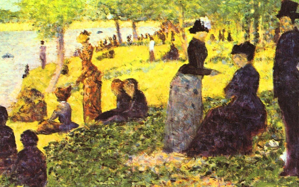 100% Hand Painted Oil on Canvas - La Grande Jatte by excursionists by Seurat ...