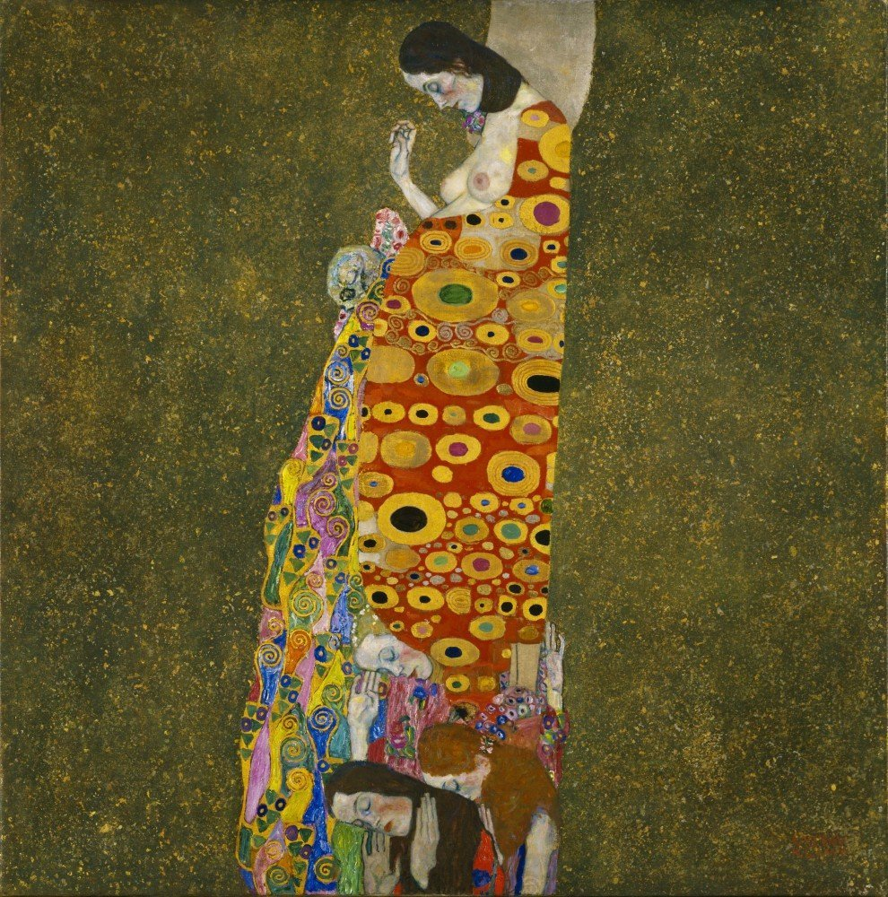100% Hand Painted Oil on Canvas - Klimt - Hope II - 30x40 Inch