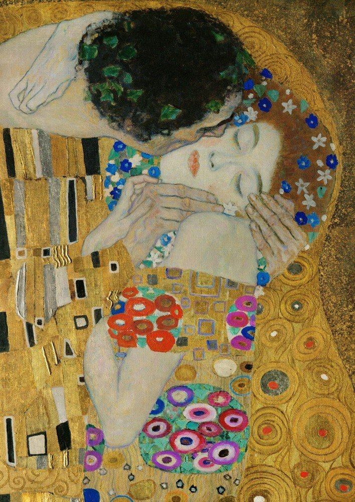 100% Hand Painted Oil on Canvas - Klimt - The Kiss (detail) - 30x40 Inch