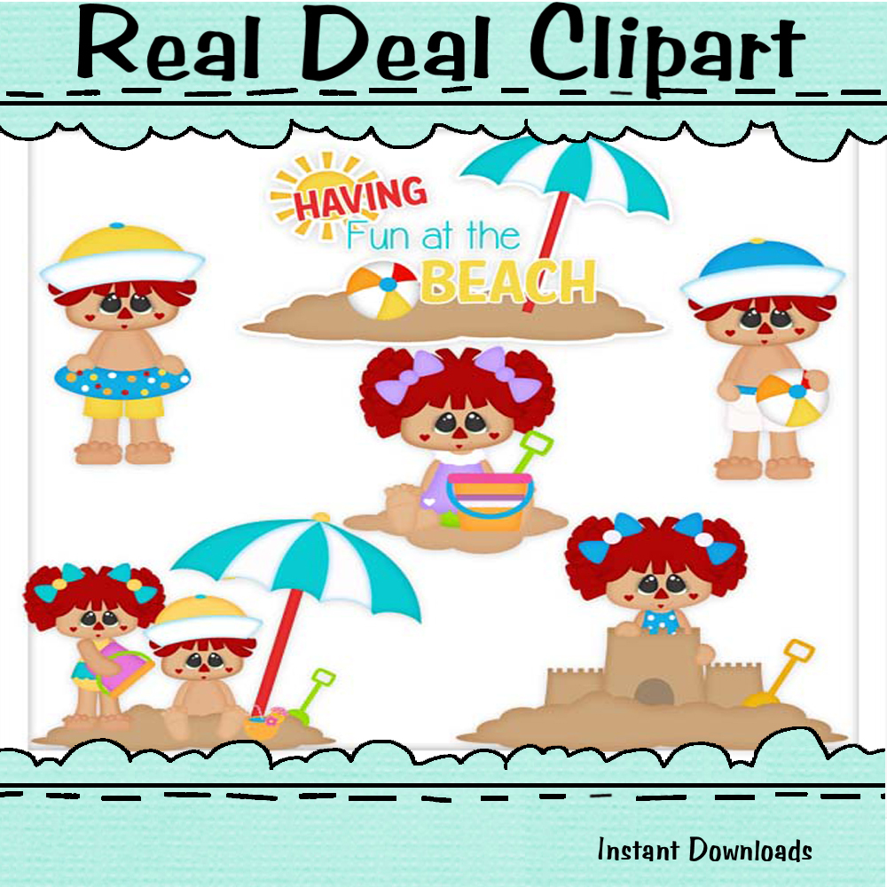 Beach dolls clip art