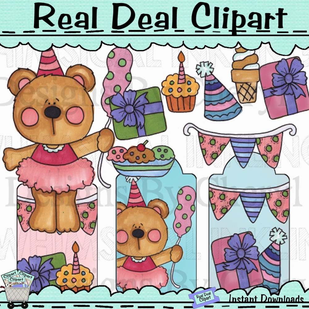 Celebration bear clip art