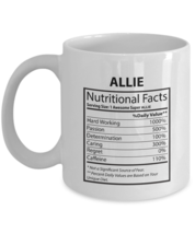 Text custom Mug For Men, Women - ALLIE Nutritional Facts-  Your  Coffee ... - $14.95