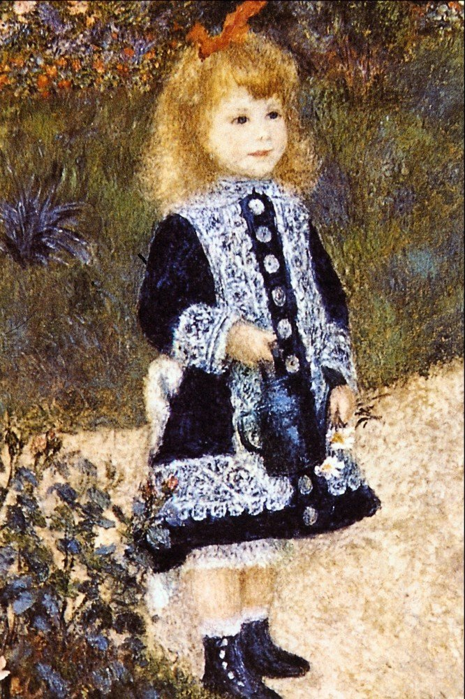 100% Hand Painted Oil on Canvas - Girl with the Watering Can by Renoir - 30x4...