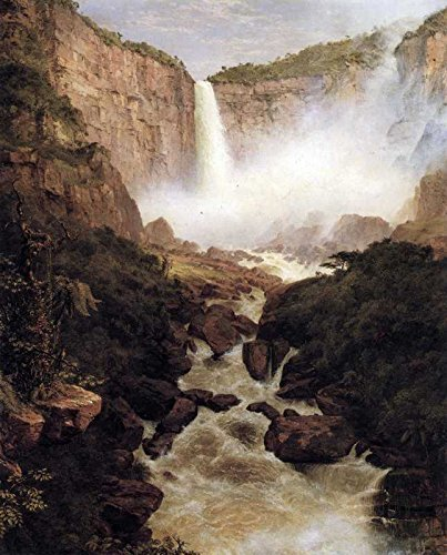 100% Hand Painted Oil on Canvas - Tequendama falls, near Bogota, New Granada ...