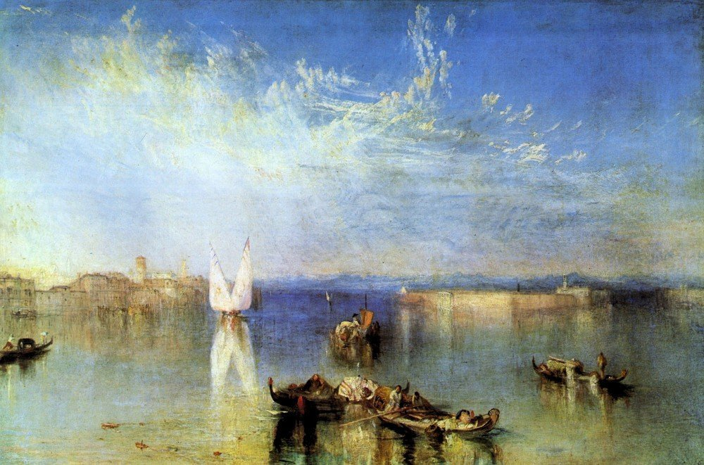 100% Hand Painted Oil on Canvas - Campo Santo, Venice by Joseph Mallord Turne...