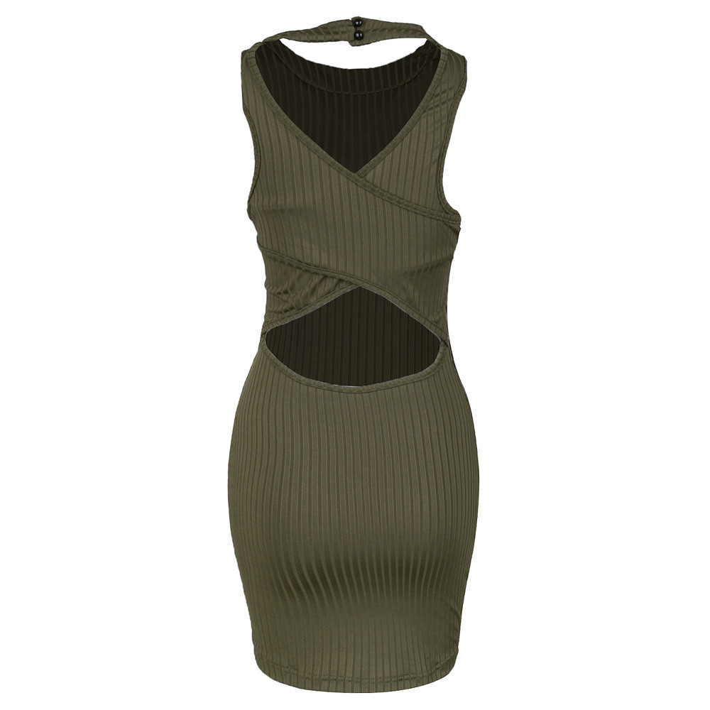 Women Summer Sexy Slim Sleeveless Package Hip Bodycon Amazing Mini Dress ITC882.