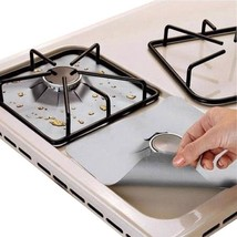 4pcs/set Burner Protector Cover Stove Gas Liner Reusable Cleaning Kitche... - $9.99