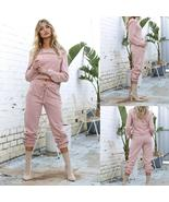 NEW Fashion Women Pink Sport Suit Jogging Sets Casual Long Sleeve Suits - $73.96+
