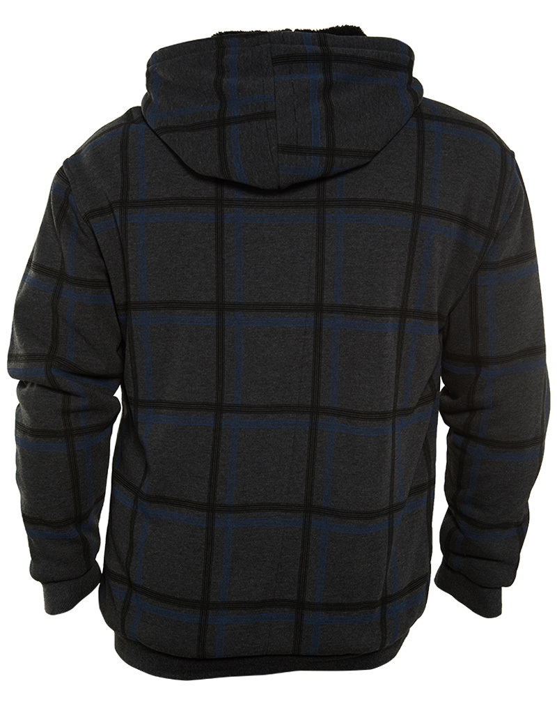 Isapparel Printed Plaid Fleece Mens Style : 4788mx