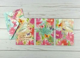 Punch Studio Blank Note Cards 12 Count Greeting Thank You Birds Butterflies - $14.99