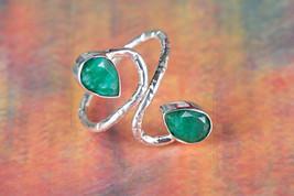 Fantastic Emerald Gemstone Sterling Silver Ring... - $14.99 - $17.99