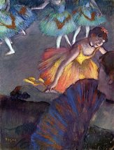 100% Hand Painted Oil on Canvas - Ballet, from a box view by Degas - 20x24 Inch - $226.71