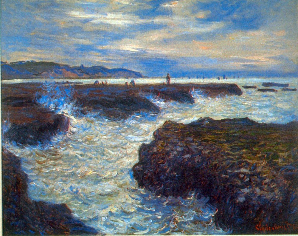 100% Hand Painted Oil on Canvas - Pourville by Monet - 20x24 Inch