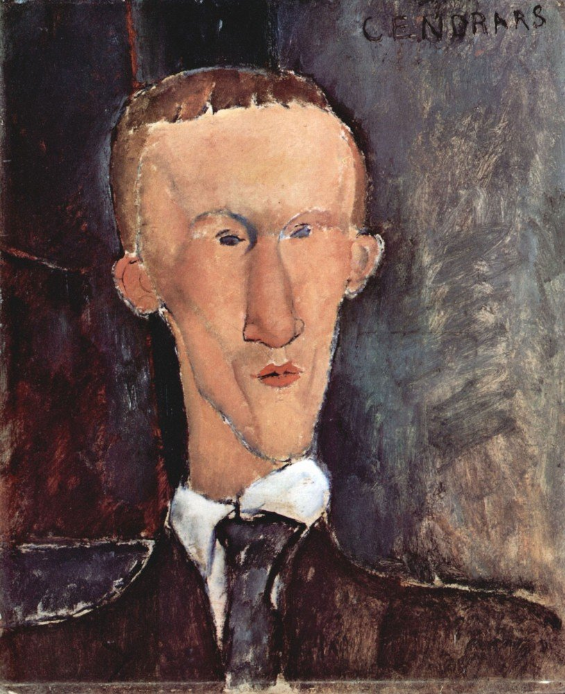 100% Hand Painted Oil on Canvas - Modigliani - Portrait of Cendras - 20x24 Inch