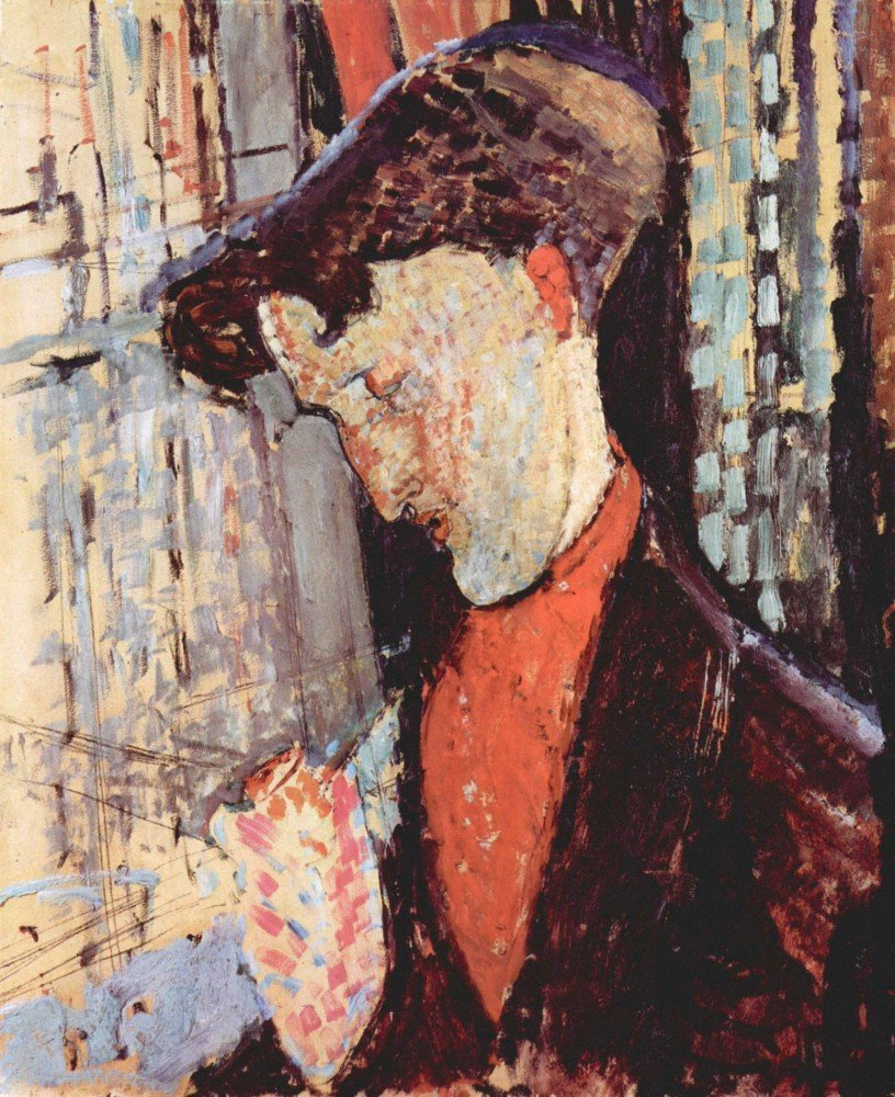 100% Hand Painted Oil on Canvas - Modigliani - Portrait of Frank Burty Havila...