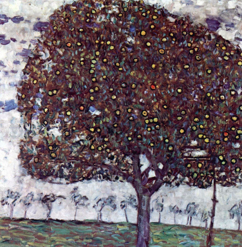 100% Hand Painted Oil on Canvas - The Apple Tree by Klimt - 20x24 Inch