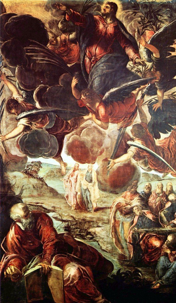 100% Hand Painted Oil on Canvas - The Ascension by Tintoretto - 20x24 Inch