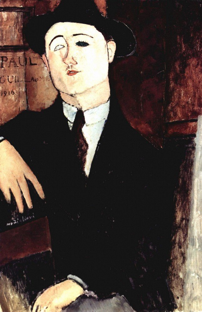 100% Hand Painted Oil on Canvas - Modigliani - Portrait of Paul Guillaume - 2...