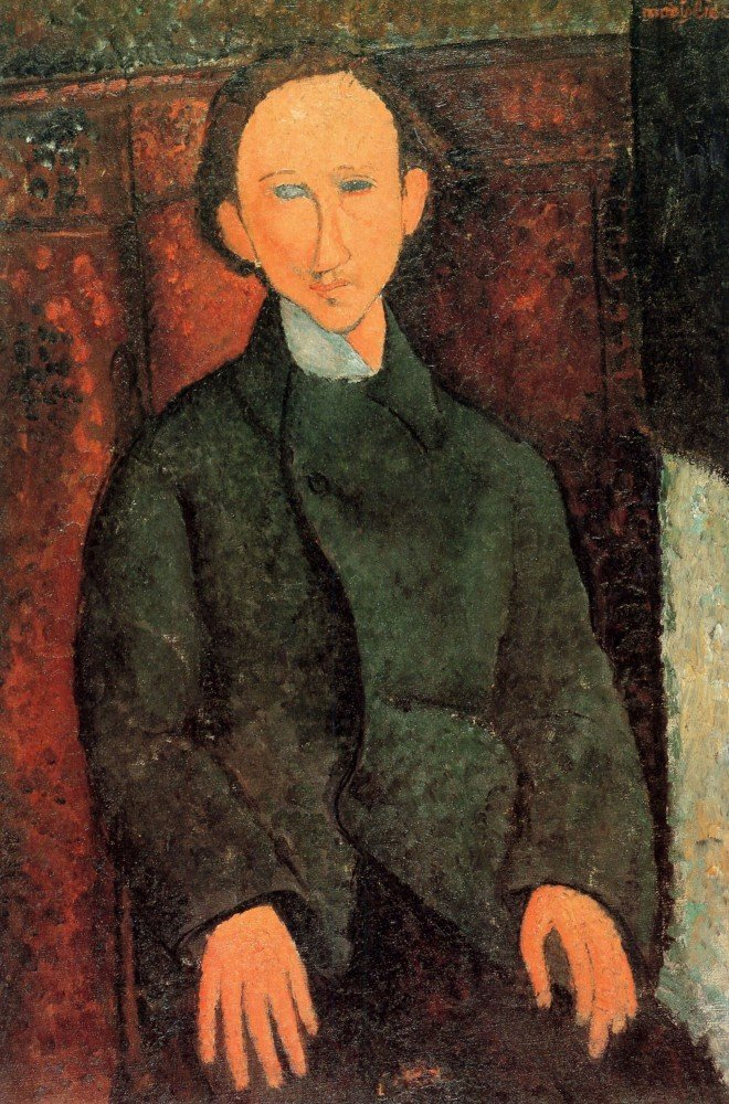 100% Hand Painted Oil on Canvas - Modigliani - Portrait of Pinchus Kremegne -...