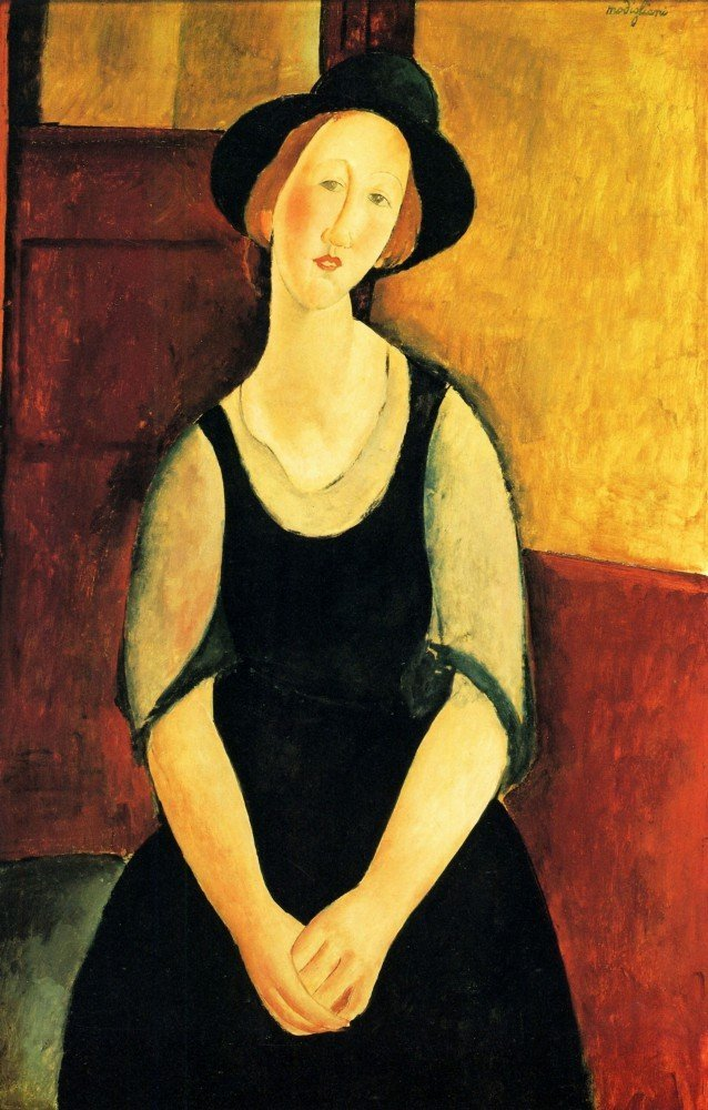 100% Hand Painted Oil on Canvas - Modigliani - Portrait of Thora Klinckowstro...