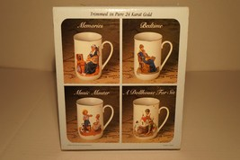 Collector's Mug Set by Norman Rockwell - 1983 - Trimmed in Pure 24 Karat... - $13.99