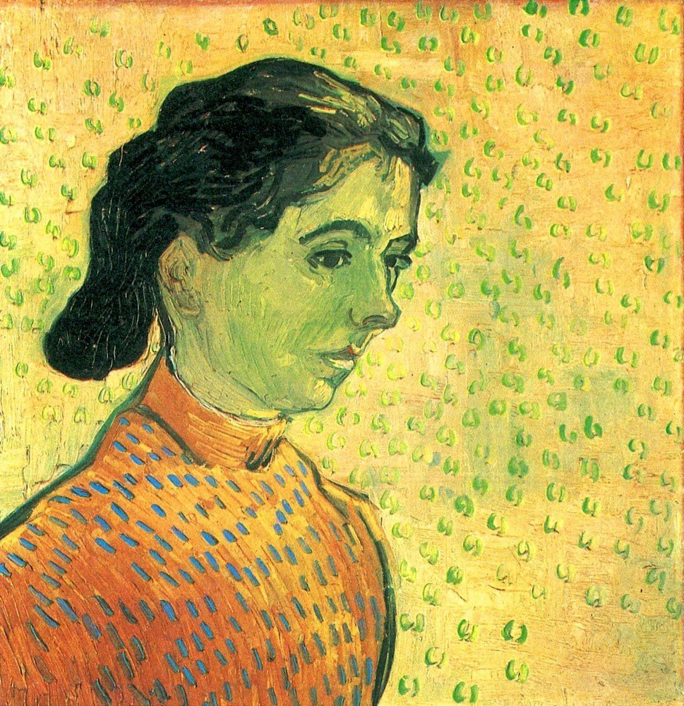 100% Hand Painted Oil on Canvas - Portrait of a girl by Van Gogh - 20x24 Inch