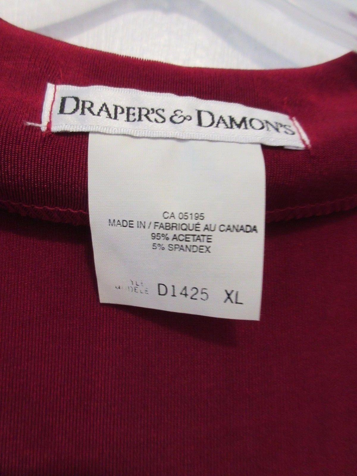 DRAPER'S & DAMON WOMEN'S PLUS SIZE XL RED LONG SLEEVE JACKET / CARDIGAN - NWT