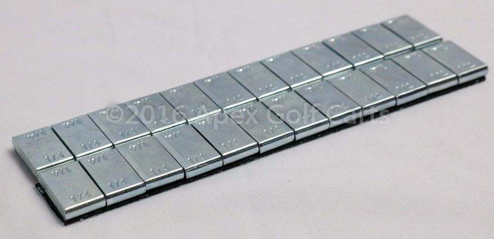 Steel Wheel Weights 1/4 OZ x12 ZN Plating 2 Strip