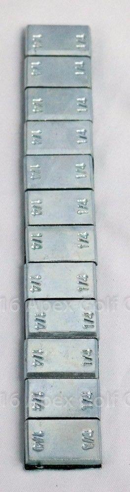 Steel Wheel Weights 1/4 OZ x12 ZN Plating 1 Strip